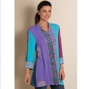 Soft Surroundings Bali Batik Tunic